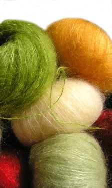 Fils a tricoter mohair et soie
